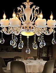 Luxury European Style Zinc Alloy Jade Crystal Pendant