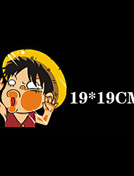 Funny Luffy Car Sticker Car Window Wall Decal Car Styling