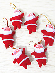 6Pcs 2inch Christmas Tree Hanging Decoration Santa Claus Doll