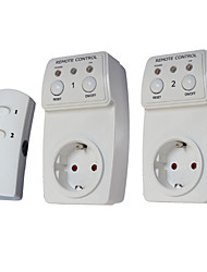 2-Pack Wireless Remote Control Power Outlet Plug Socket Switch Set for Lamps Household Appliance