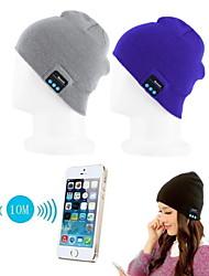 chaud chapeau de bonnet sans fil Bluetooth bouchon de musique headset enceinte Mic scw