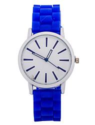 Women's Watch L.WEST Fashion Diamonds Candy Color The Silicone Belt Quartz Watch Cool Watches Unique Watches