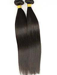 Mix Size 3Bundles Brazilian Virgin Hair Straight Hair Color 1B# Unprocessed Raw Virgin Human Hair Weaves