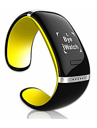 OLED L12S Pulsera Smart Monitor de Pulso Cardiaco / Despertador / Audio / Podómetros / LED / Control de Mensajes Bluetooth 4.0iOS /