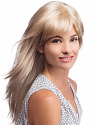 Simple Refining Virgin Remy Human Hair Capless Hand Tied-Top Long Straight Wig