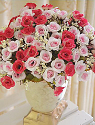 Autumn little Rose Artificial Flower Bouquet,European Bouquet Artificial Silk Flower