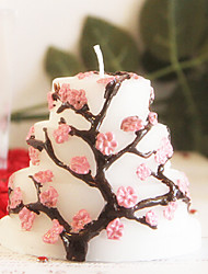 Peach Blossom Cake Candle for Gift Wedding Birthday(1pc)