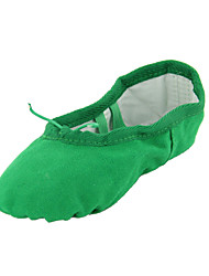 Non Customizable Women's / Kids' Dance Shoes Belly / Ballet / Dance Sneakers Canvas Flat Heel Green / beige