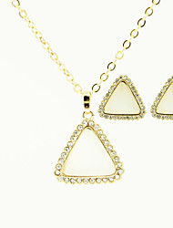 Women's Triangle Necklaces and Stud sets
