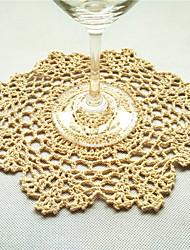 20pcs/Lot 20cm Round Handmade Crochet Table Doilies