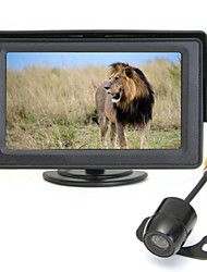 "4.3"" TFT Car LCD Screen Wireless Rear View Monitor Reverse Backup Camera"