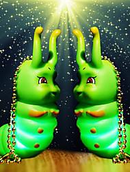 7*4.5*2CM Christmas Lovely Glow Doll Spirit Key Chain Light LED Lamp