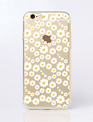 Para Funda iPhone 6 / Funda iPhone 6 Plus Diseños Funda Cubierta Trasera Funda Flor Suave TPUiPhone 7 Plus / iPhone 7 / iPhone 6s Plus/6