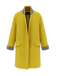 Peach John Women's Solid Color Casual Long Sleeve Coats
