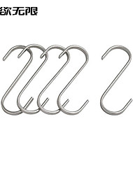 WeiYuWuXian® Contemporary  Bathroom and Kitchen Stainless Steel 5 Hooks
