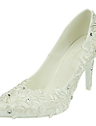 Women's Wedding Shoes Pointed Toe Stiletto Heel Wedding / Dress White