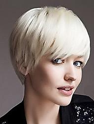 Popular Capless Short Straight Human Virgin Remy Hand Tied Top Female Capless Hair  Wig