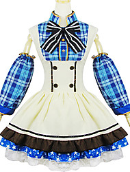 Inspired by Love Live Umi Sonoda Anime Cosplay Costumes Cosplay Suits Patchwork White / Blue Skirt / Ribbon