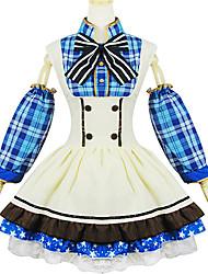 Inspiriert von Liebesleben Umi Sonoda Anime Cosplay Kostüme Cosplay Kostüme Patchwork Weiß / Blau Rock / Schleife