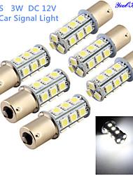 youoklight®6pcs 3W 260lm 18 x 5050 SMD levou lâmpada de luz branca sinal carro / direcção - (DC12V)