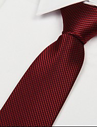 Dark Red Square Men Wedding Necktie Arrow Jacquard Tie