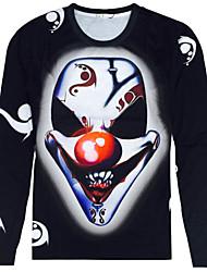 CliffWalker Man 3 d digital printing animal motifs round neck long sleeve T-shirt