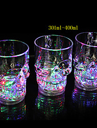 12*8.3CM Christmas Colorful Flash Light Glass Induction Switch Control Plastic Cup Light LED Lamp
