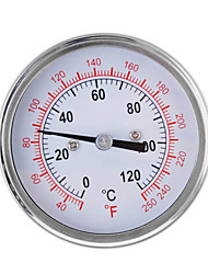 0-250℃ Stainless Steel Thermometer Gauge for Oven Grill BBQ Dual Scale