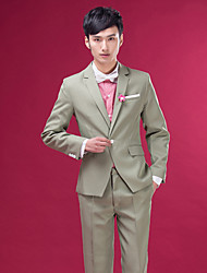 Men's Suits for Performances Presided Over Wedding Party Important Occasions  Silver Suit Set  4490