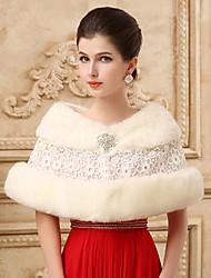 Lace Sleeveless Wedding Wraps Imitation Cashmere Capelets/Wraps/Shawls with Crystals