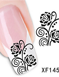 1 PCS 3D Water Transfer Printing Nail Stickers XF1451