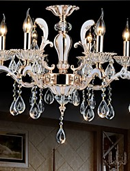 European Style luxury Candle Crystal Pendant living Room Bedroom Dining Room Zinc Alloy lamps