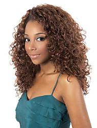 africana de la manera marrón dos largas pelucas del color del pelo rizado aviable sintéticos y negro.