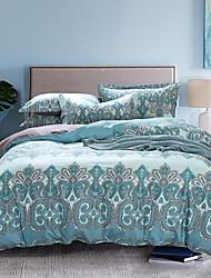 jiajia de 4 piezas 100% algodón leyenda estilo moderno estampado floral conjunto funda nórdica