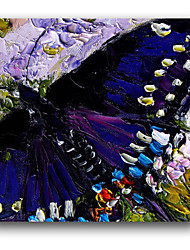 IARTS®Blue Color Beautiful 3D Butterfly Handmade Oil Painting On Canvas With Stretcher