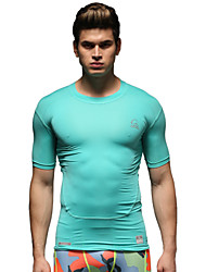 Vansydical® Men's Running Tops Running Breathable Light Green Others Sports Wear