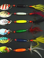 6 pcs Isco Duro / Iscas Colheres / Iscas Buzzbait & Spinnerbait / Isco Duro / Gigas / Isco de Metal Others 7.8 g/5/16 Onça,105 mm/4-1/16""