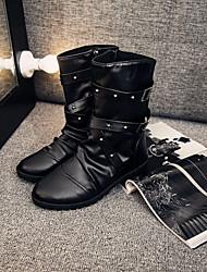 Men's Shoes Casual Boots Black / White