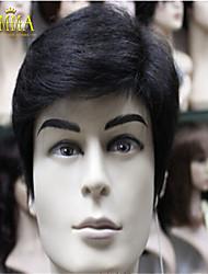 sale100 toda% peluca de cabello real del nuevo encanto de la moda negro corto peluca de cabello humano emma peluca de las mujeres