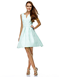 Cocktail Party / Company Party / Family Gathering Dress A-line V-neck Knee-length Polyester with