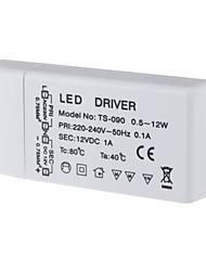 AC85-265V para DC 12V LED SMD transformador de potência driver para MR11 / G4 / MR16 / GU5.3 12 watt lâmpadas