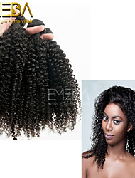 3pcs/Lot Temple Indian Remy Hair Afro Kinky Curly Human Hair Extensions Natural Black 8''-30'' Human Hair Weaves Bundles