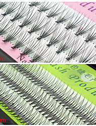 10mm Natural False Eyelashes Extensions Corssed Individual Fake Lash EyeLash Planting Grafting Eyelashes(Assorted Color)