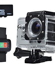 FHD водонепроницаемый WiFi велосипедные экстремальных видов спорта DV с дистанционным управлением с Micro SD карта 32 ГБ