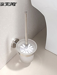 "Toilet Brush Holder Stainless Steel Wall Mounted 100x100x300mm(3.94x3.94x11.8"") Stainless Steel Contemporary"