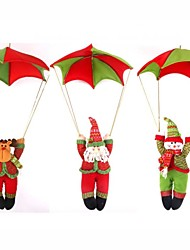 "3PCS/SET 80*50CM/31.5*19.7"" Santa Claus Snowman Raindeer In Parachute Christmas Tree Hanging Ornament Xmas Decoration"