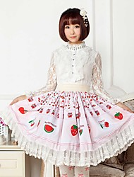 Pink Fruit  Party Lolita  Skirt Lovely Cosplay