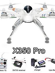 Rc Drone Walkera X350 Pro 2.4G 6CH 4Axis Devo10 Transmitter White Drones RTF