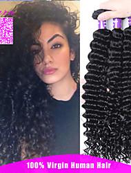 "Mongolian Virgin Hair Deep Wave 7A Grade 10""~26"" Human Hair Deep Wave Virgin Hair 3 Bundles/Lot Hot Selling Style"