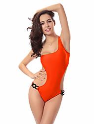 Mulheres Maiô Sólido Nadador Sem Aro / Com Bojo Nylon Mulheres